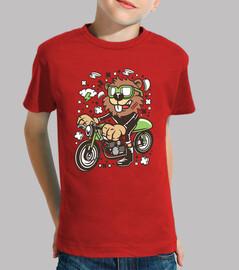 t-shirt cartoni animati giovane combattente