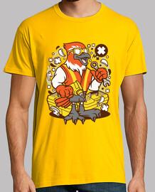 t-shirt cartoni animati giovanile uccello meccanico