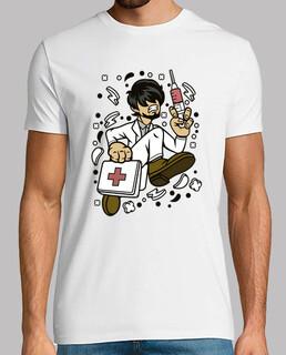 t-shirt cartoon mediziner rennen krankenpflege