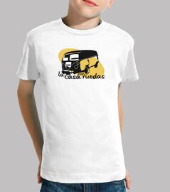 t-shirt casa dei bambini su ruote