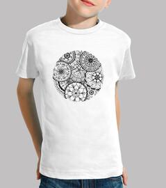 t-shirt cercle de mandalas, fille
