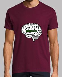 t-shirt cervello caricamento caricamento uomo