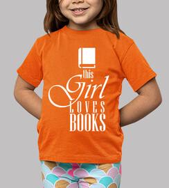 t-shirt cette fille aime les livres