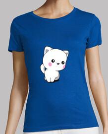 t-shirt chaton chibbi pour femme