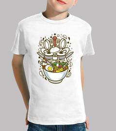 t-shirt chef de bande dessinée cuisinier