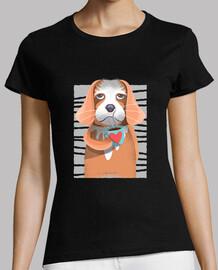 t-shirt chien de café