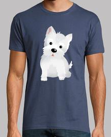 t-shirt chien westy