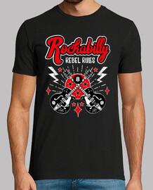 t-shirt chitarre rockabilly rockers usa rock