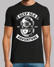 t-shirt ci navy profondo divertenti mod.3