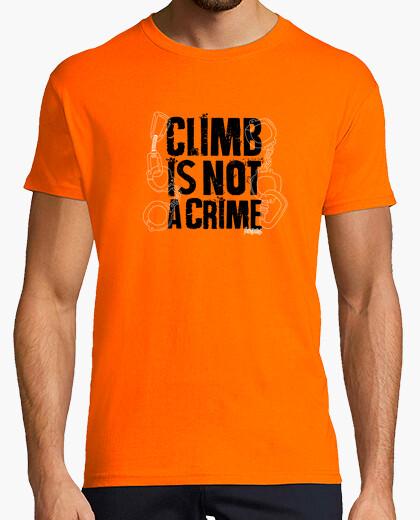 T-shirt climb è not un crime