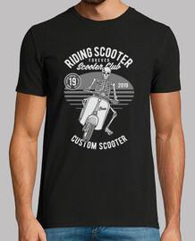 t-shirt club de scooter 2019 skull