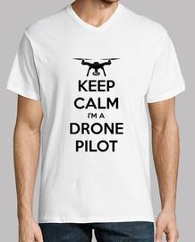 t-shirt col v drone pilote