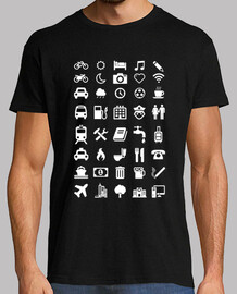 t-shirt con emoticon per i viaggiatori