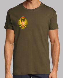 t-shirt con forze di terra scudo