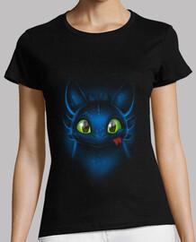 t-shirt con occhi di drago