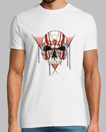 t-shirt con skull rubino (manica corta)