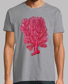 t-shirt corallo rosso venus (flabellum gorgonie)