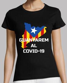 t-shirt covid-19 catalogne guanyarem blan