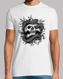 t-shirt crânes serpents heavy metal