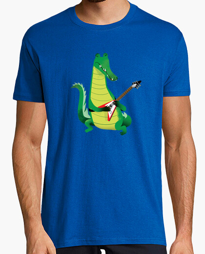 T-shirt crocodile rock in verde
