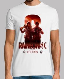 t-shirt crow rosso