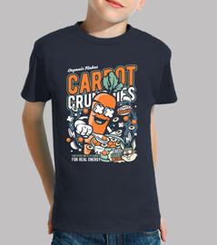 t-shirt crunchie di carota giovanile cartoni animati