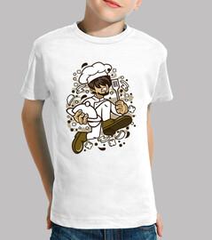 t-shirt cuoco del cuoco unico divertente del cartoni animati