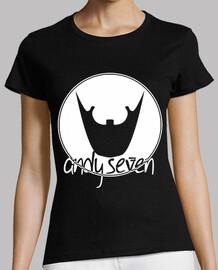 t-shirt da donna - logo manopola circolare bianco