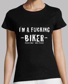 t-shirt da donna fucking motociclista