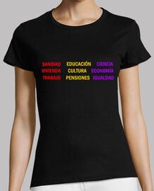 t-shirt da donna slogan pubblico