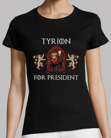 t-shirt da donna tyrion presidente