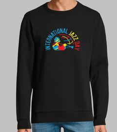 t-shirt da giorno jazz internazionale