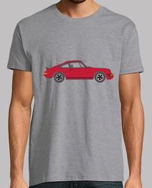 t-shirt da uomo 911, manica corta, grigio melange, qualità extra