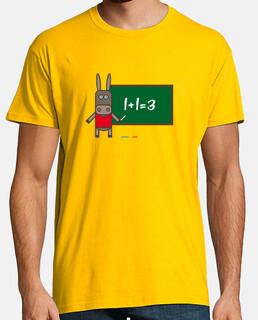 t-shirt da uomo asino lavagna
