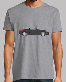 t-shirt da uomo boxter, manica corta, grigio melange, qualità extra