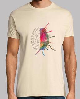t-shirt da uomo cervello colori