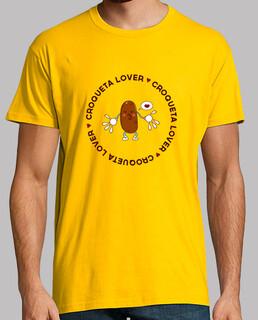 t-shirt da uomo croquette lover