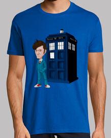 t-shirt da uomo decimo dottore (medico)
