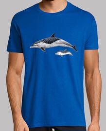 t-shirt da uomo delfino macchiato pantropical
