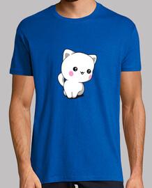 t-shirt da uomo gattino chibbi divertente