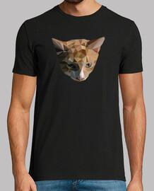 t-shirt da uomo gatto low poly