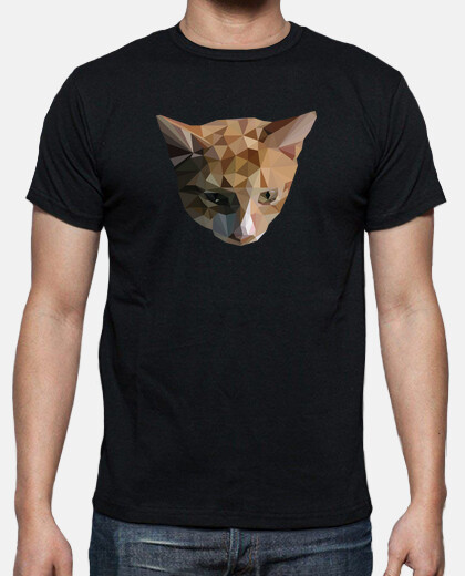 t-shirt da uomo gatto low poly