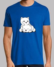 t-shirt da uomo kawaii gattino
