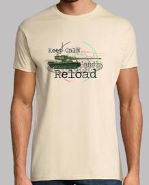t-shirt da uomo keep calm and ricaricare