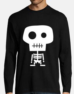 t-shirt da uomo maniche lunghe t-shirt da uomo . scheletro vari colori