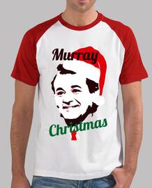 t-shirt da uomo murray christmas