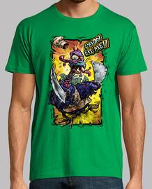 t-shirt da uomo natale crazy tacchino t-shirt da uomo