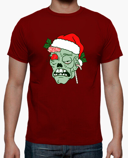 T-shirt da uomo natale zombie