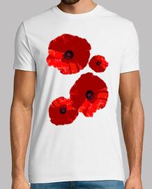 t-shirt da uomo papaveri