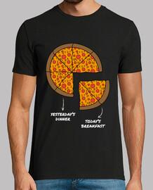 t-shirt da uomo pizza per la colazione